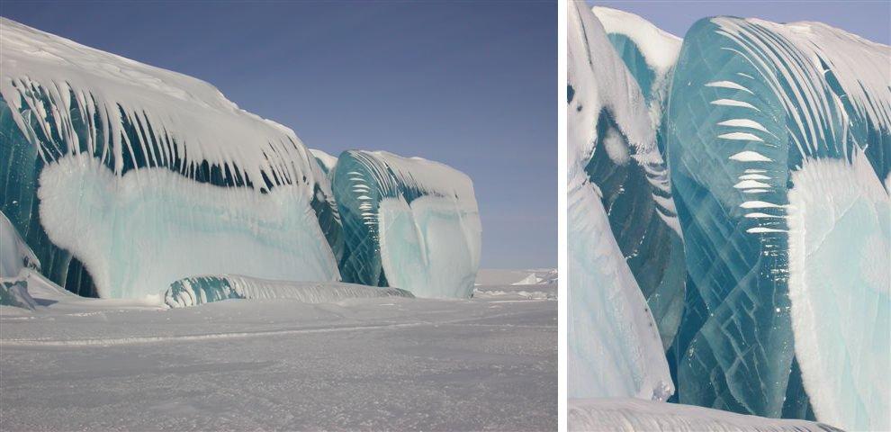 Замерзшая волна в Антарктике