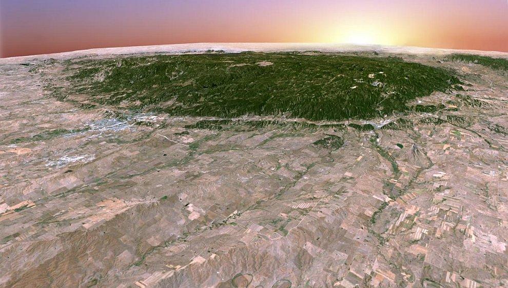 3D снимок горного хребта в США – Блэк-Хилс
