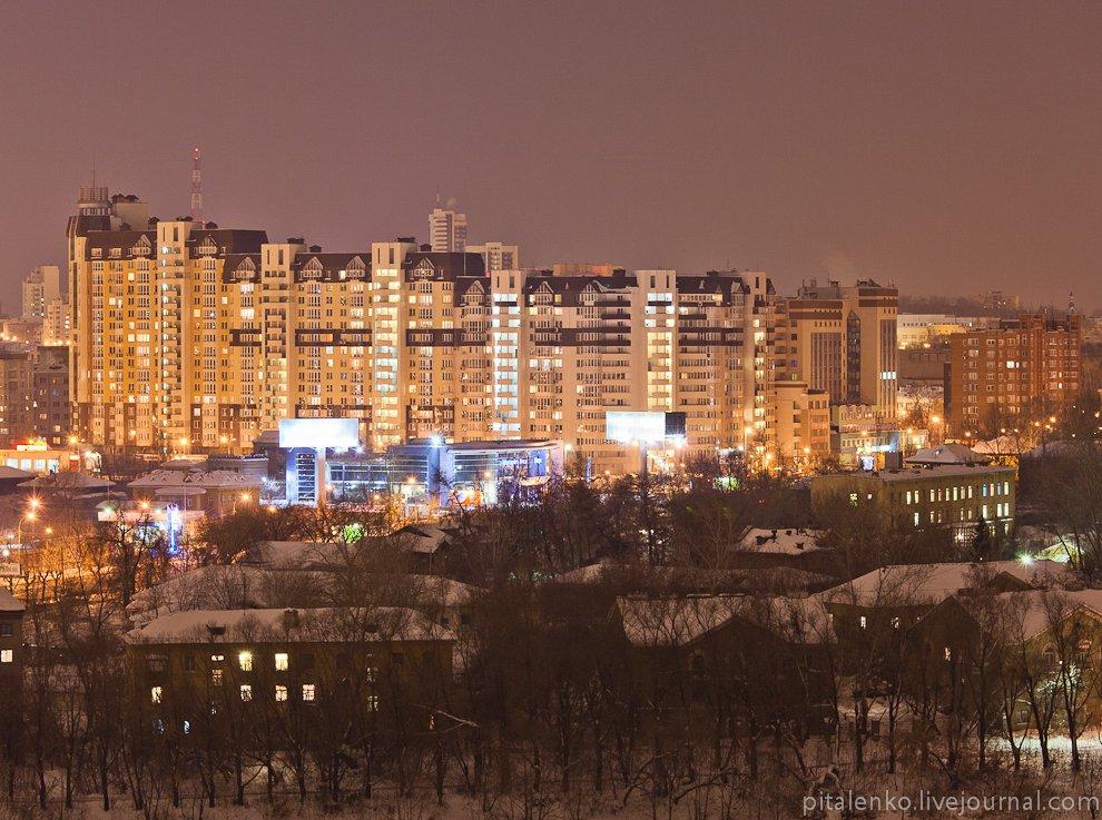 Ночной Екатеринбург с высоты
