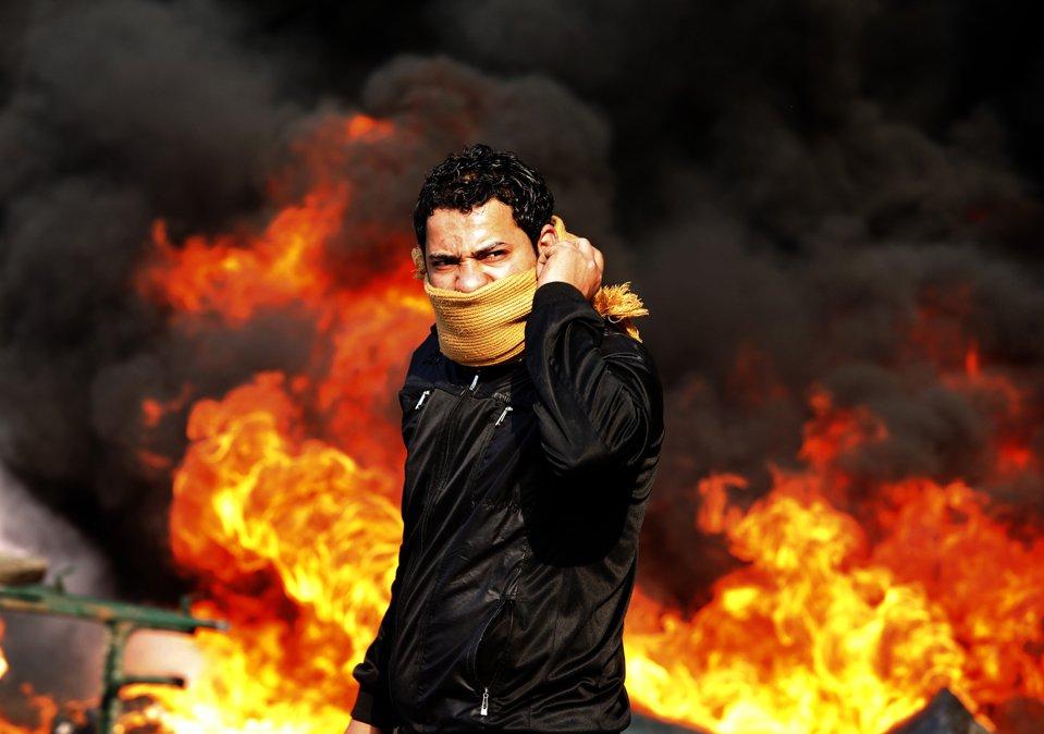 Антиправительственная демонстрация в Каире, Египет