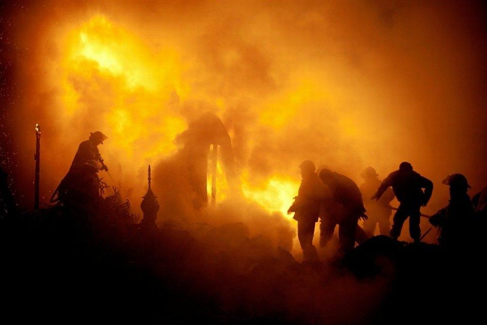 Пожар на рынке Кабула