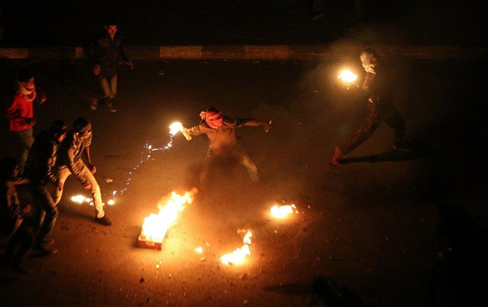 Протестующие в Египте требуют свержения президента Хосни Мубарака
