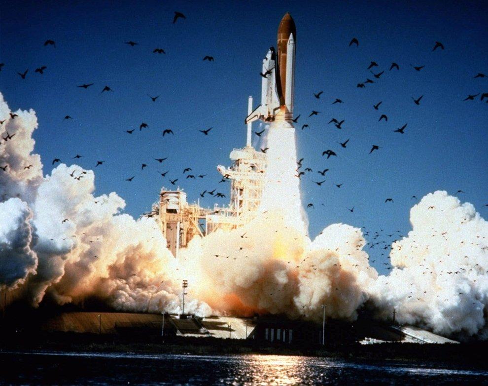 Старт космического корабля многоразового использования «Челленджер»