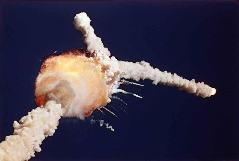 Взрыв космического корабля многоразового использования «Челленджер»