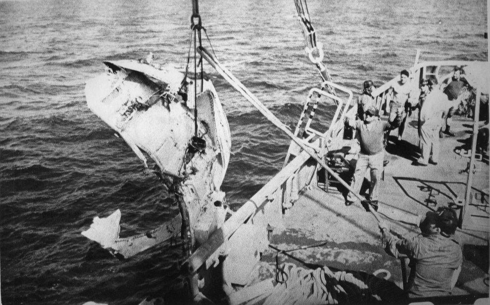 Обломки корабля «Челленджер»