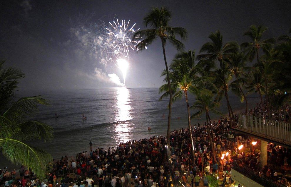 Новый год на Гавайи