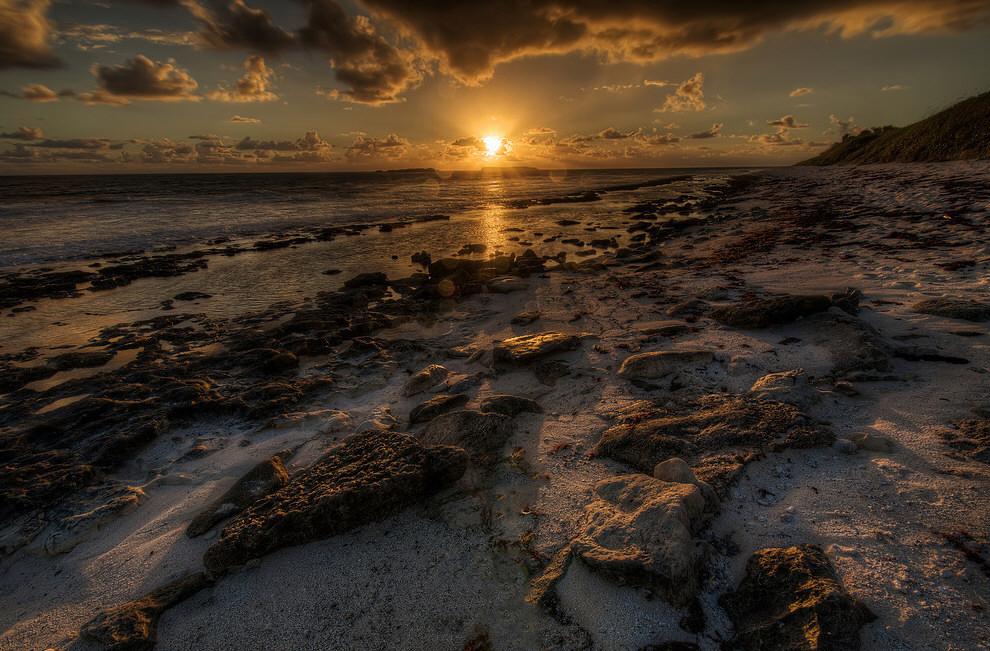 Закат на Багамах