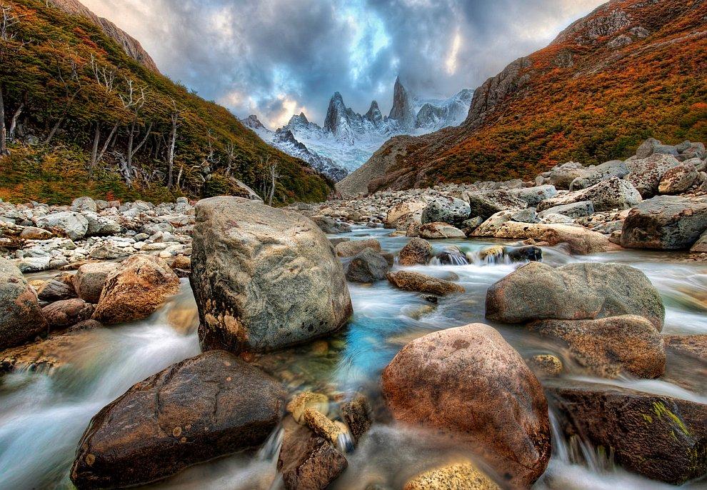 Горная река в Андах