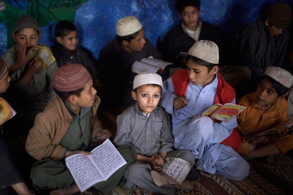 На ежедневном уроке чтения Корана