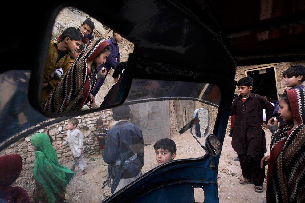 Кадр из рикши на окраине Исламабада