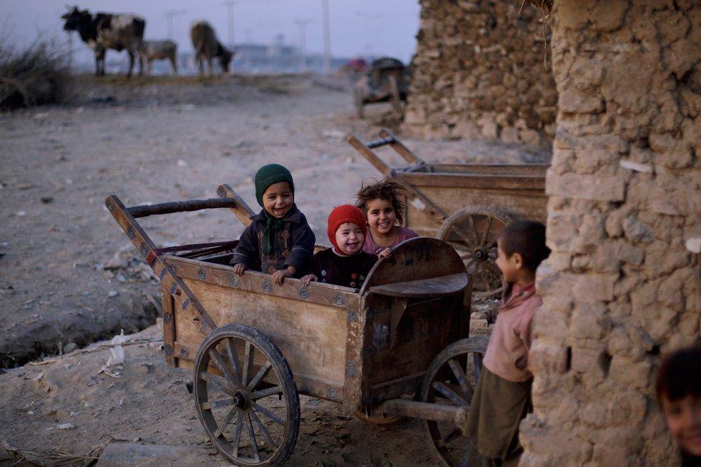 Район трущоб на окраине Исламабада