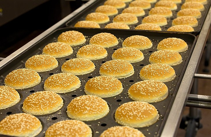 Как делают булки для Макдональдса
