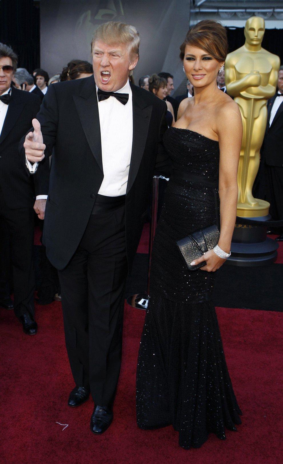 Дональд Трамп и его жена Мелани