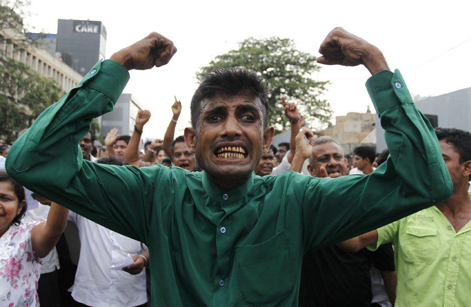 Акция протеста в Коломбо, Шри-Ланка