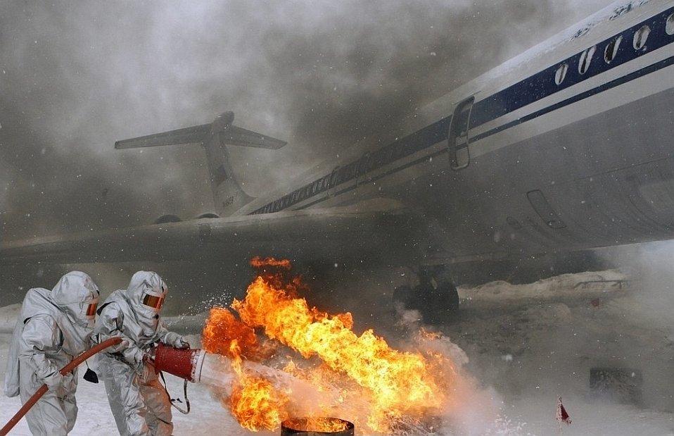 10 февраля 2011 прошли пожарно-тактические учения в красноярском аэропорту «Емельяново»