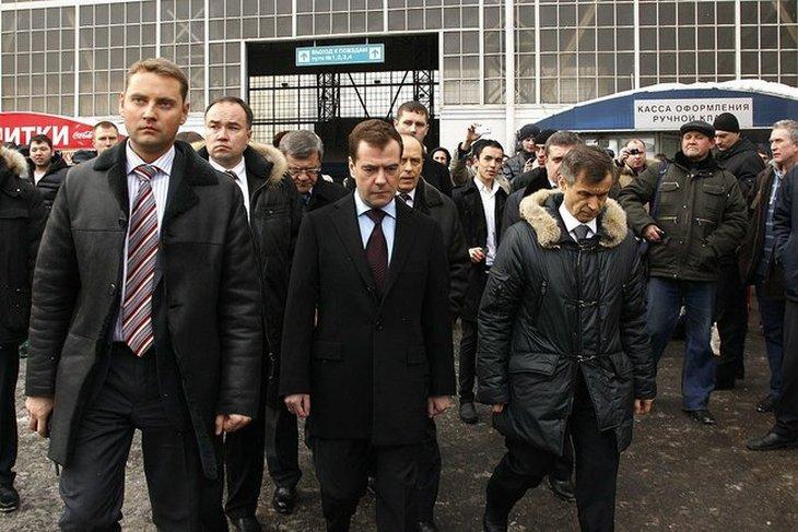 Дмитрий Медведев на Киевском вокзале