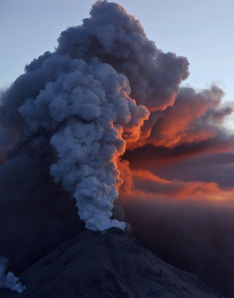 Извержение вулкана кизимен на