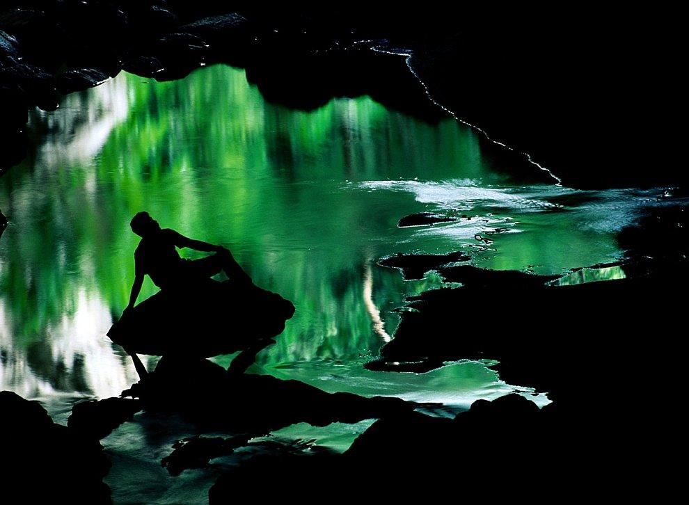 In Rio Frio caves in Belize