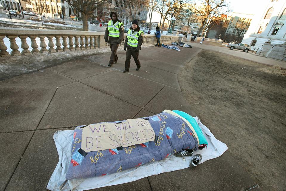 В американском штате Висконсин идут массовые акции протеста