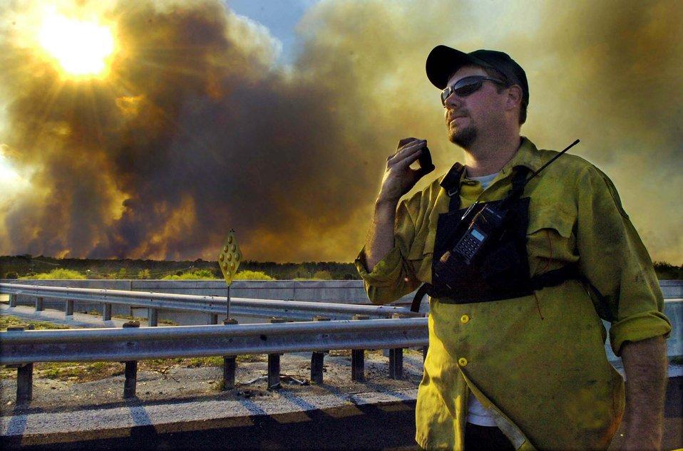 Во Флориде бушует сильный лесной пожар