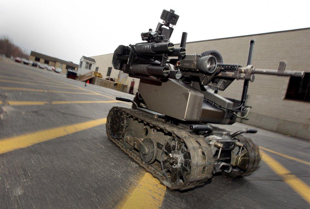 Один из американских военных роботов