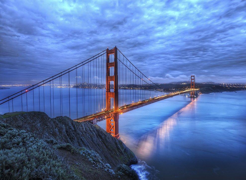 Мост Золотые ворота в Сан-Франциск
