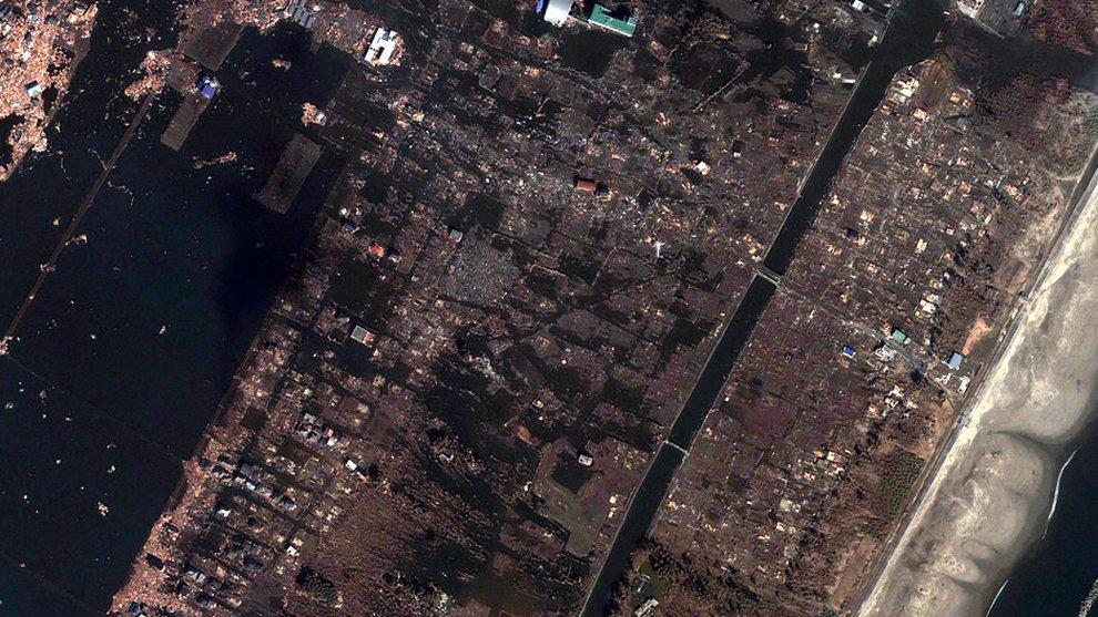 Япония из космоса: до и после