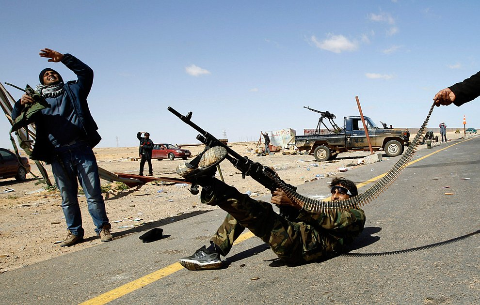 Бои в Ливии за нефтяной город Рас-Лануф