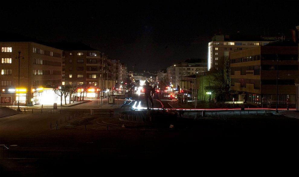 Площадь Gotaplatsen, в центре которой расположен фонтан «Посейдон»