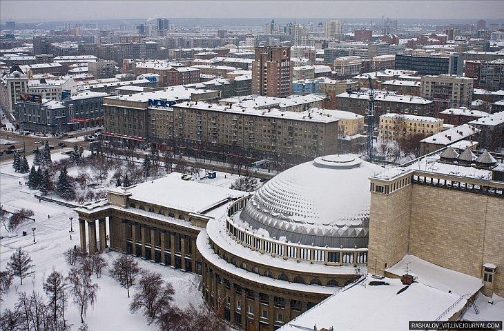 Новосибирск. Вид с высоты