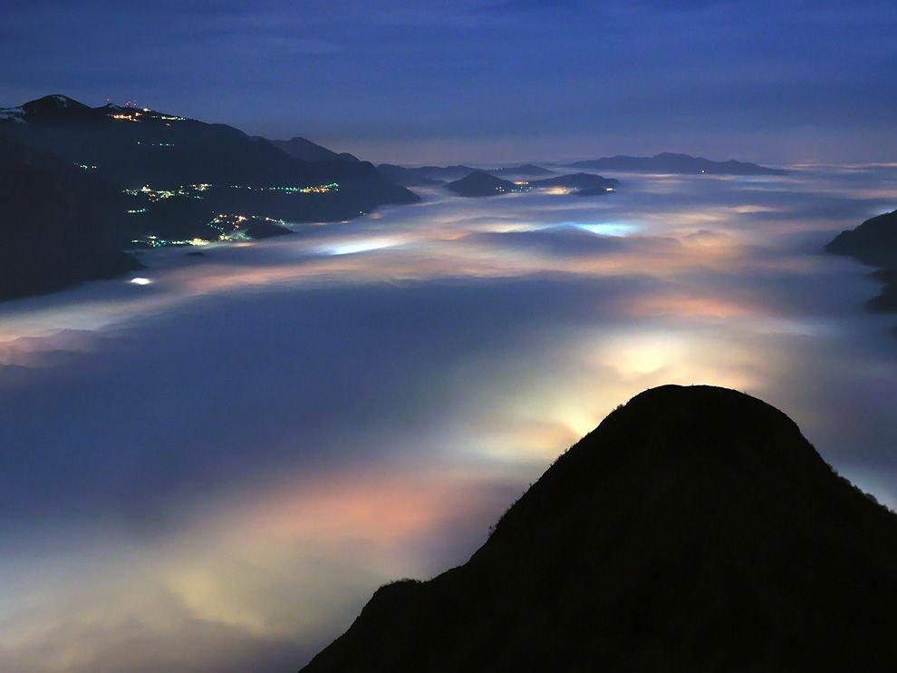 Облака в Альпах, Италия