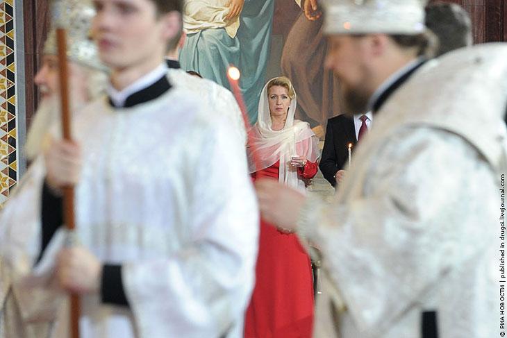 Пасха в храме Христа Спасителя