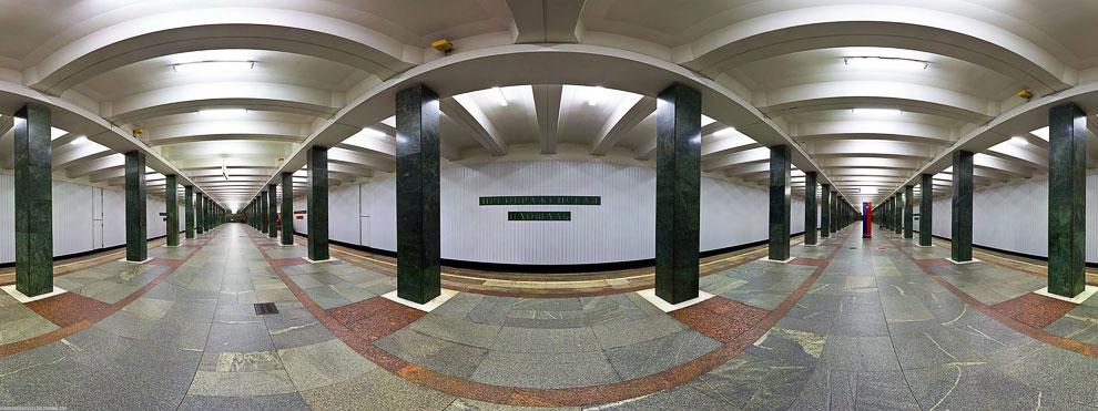 Московское метро: красивые панорамы