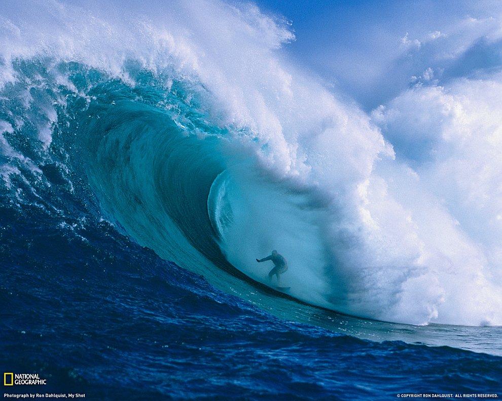 Серфер на Гавайах