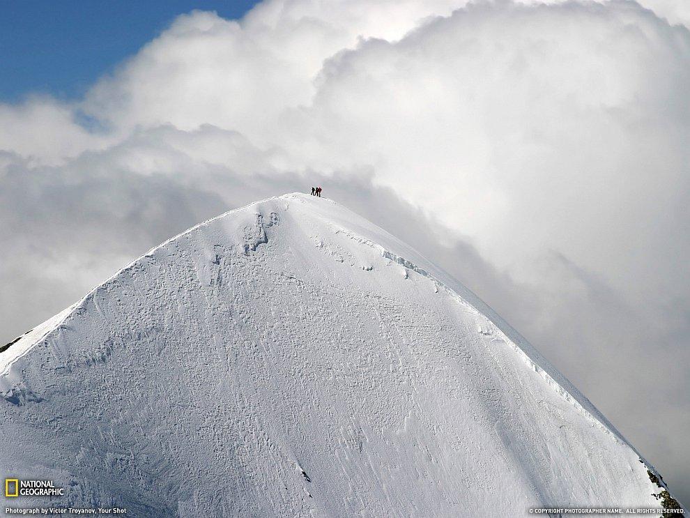 На вершине европейских Альп