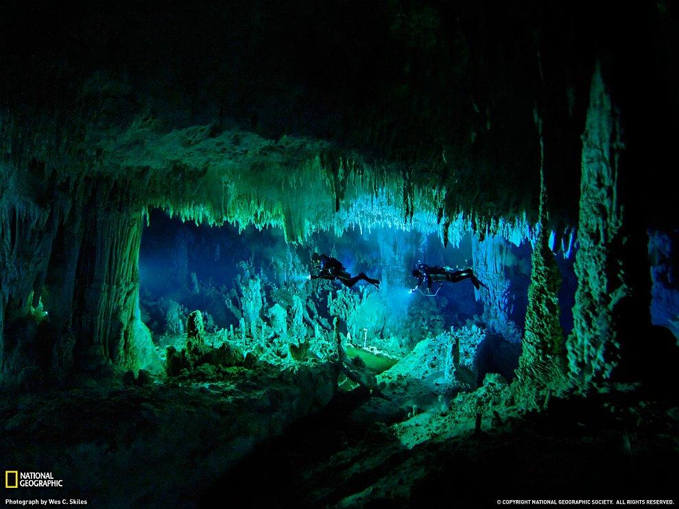 Подводная пещера, Багамы
