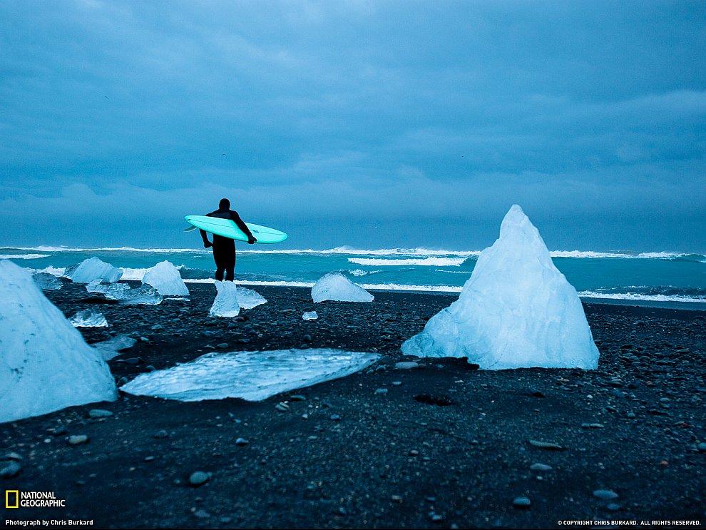Зимний серфинг, Исландия