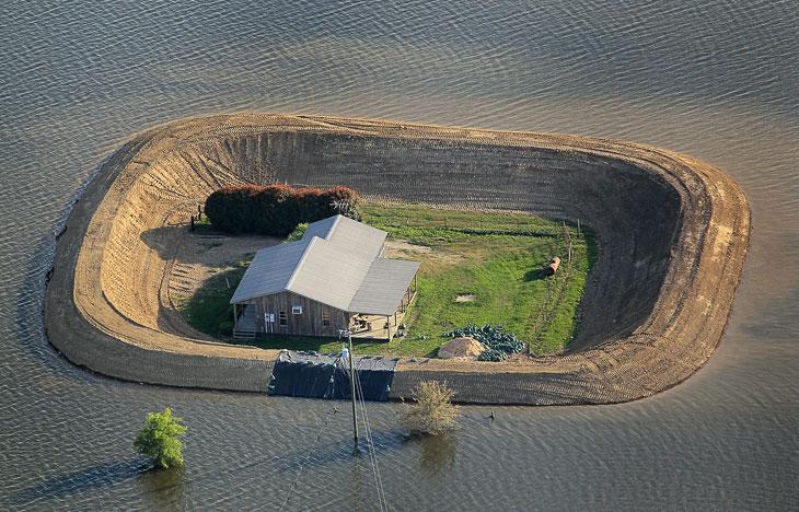 В истории разлив реки миссисипи