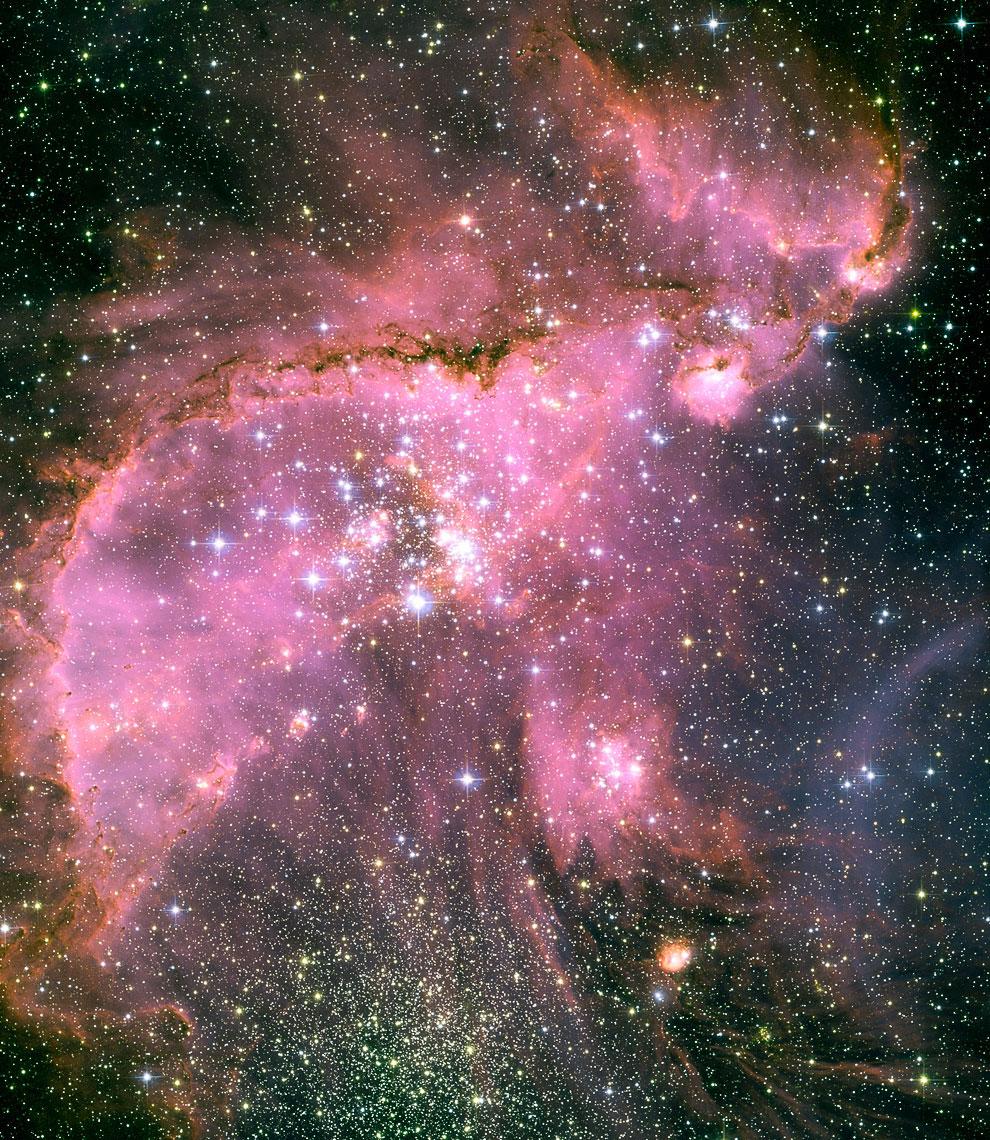 Новые звезды и облака газа