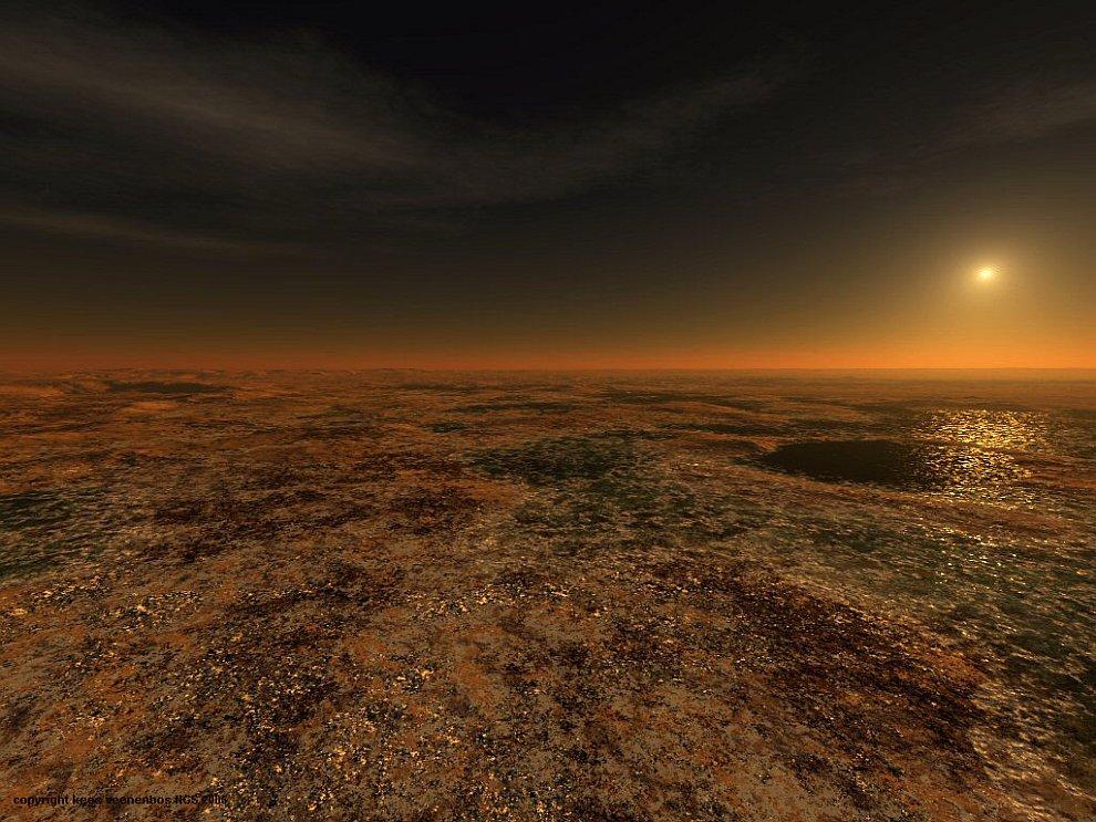 Уникальные виды Марса в цифровой обработке