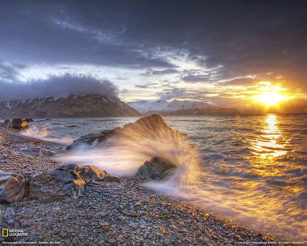 Берингово море. Закат
