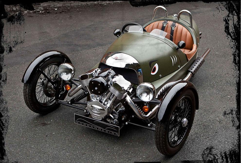 Будь другим: трехколесный автомобиль Morgan Threewheeler