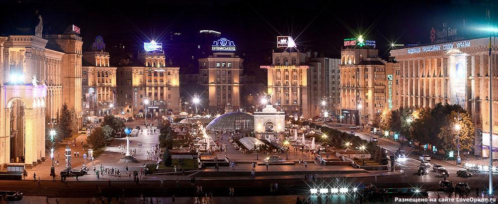 Панорама центральной площади Киева — Майдана Незалежности