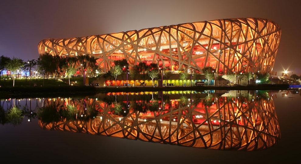 Пекинский национальный стадион, также известный как «Птичье гнездо»