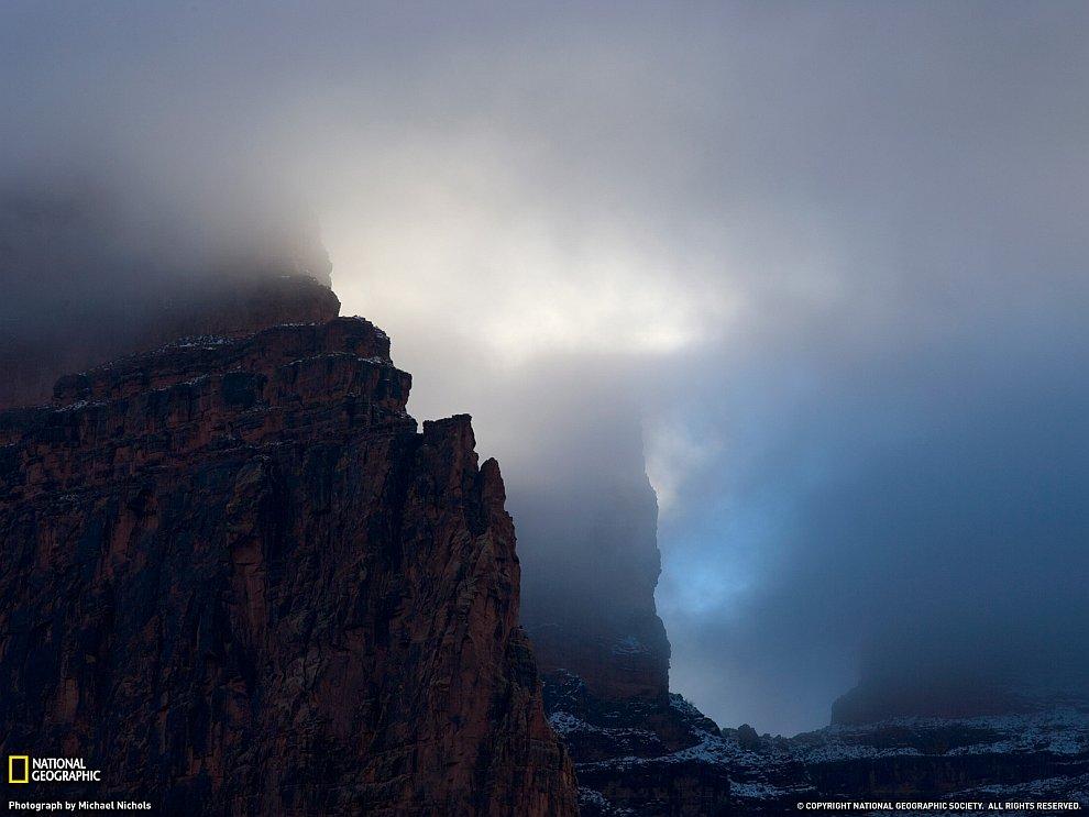 Грозовые тучи над Гранд Каньоном, Аризона
