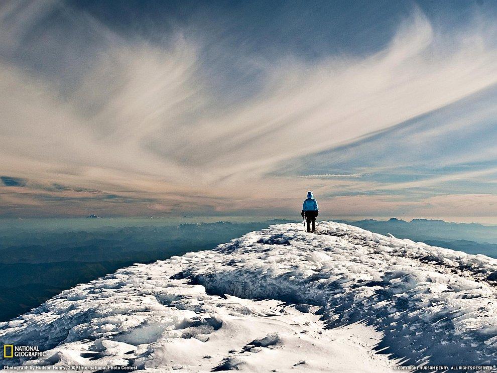 Гора Рейньер в штате Вашингтон
