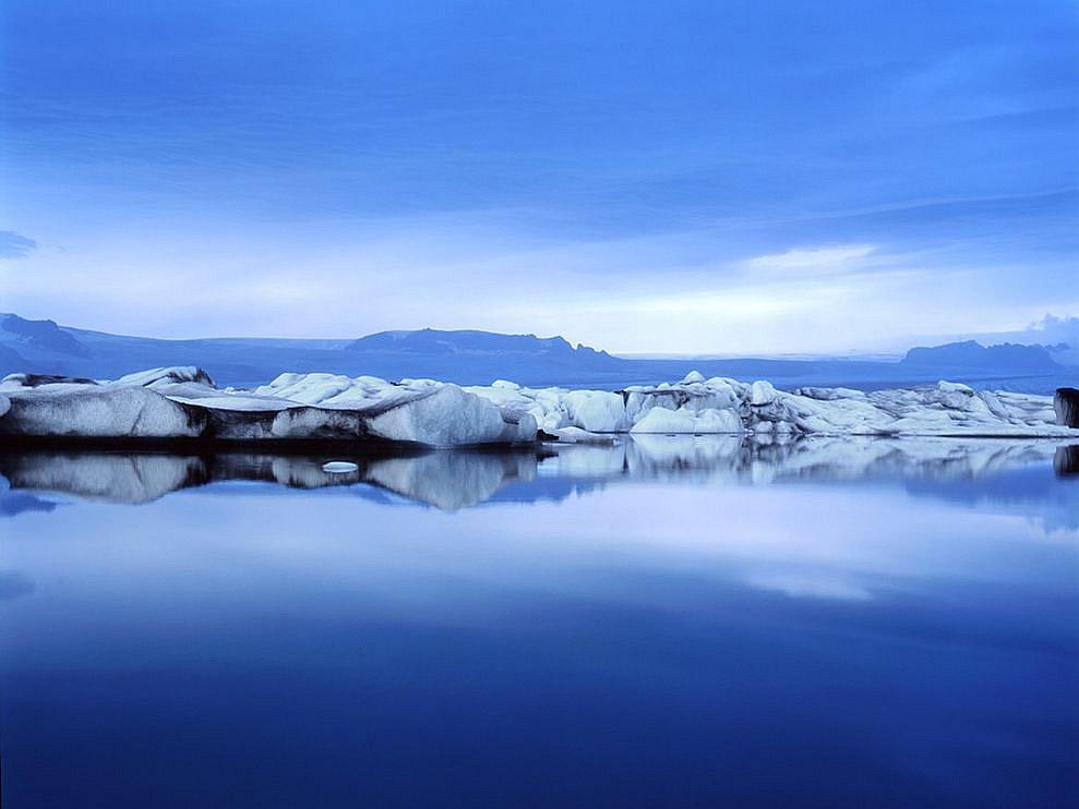 Лагуна и айсберги в исландии