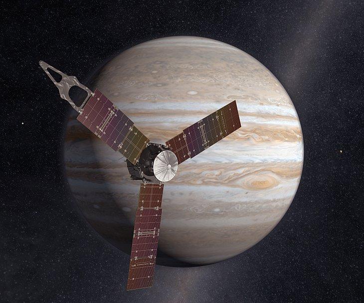 Космическая станция «Юнона» отправилась на далекий Юпитер