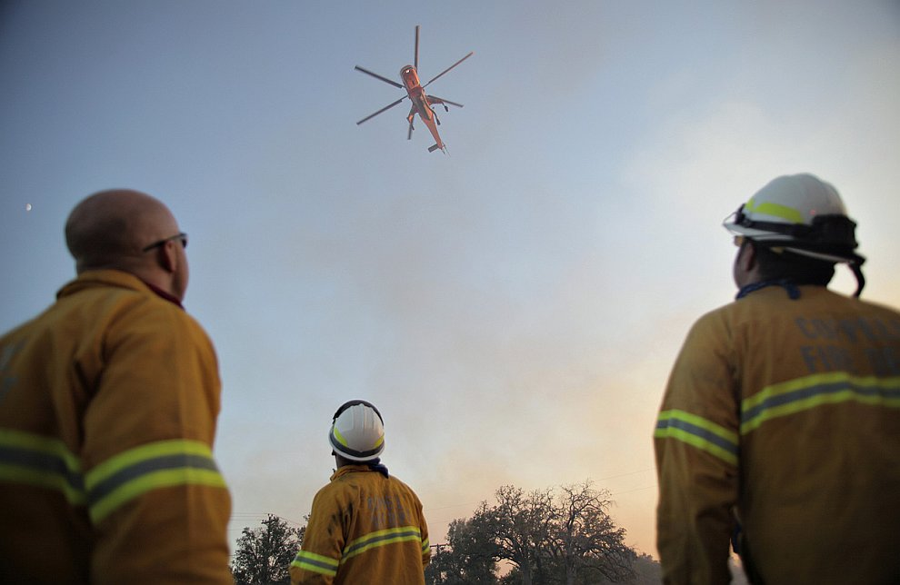 Пожары в Техасе