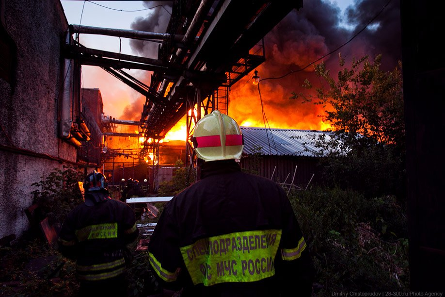 Крупнейший пожар 2011 года в Москве